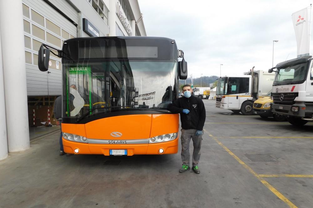 riverniciatura autobus